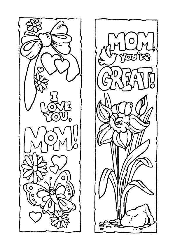 mother u2019s day bookmarks