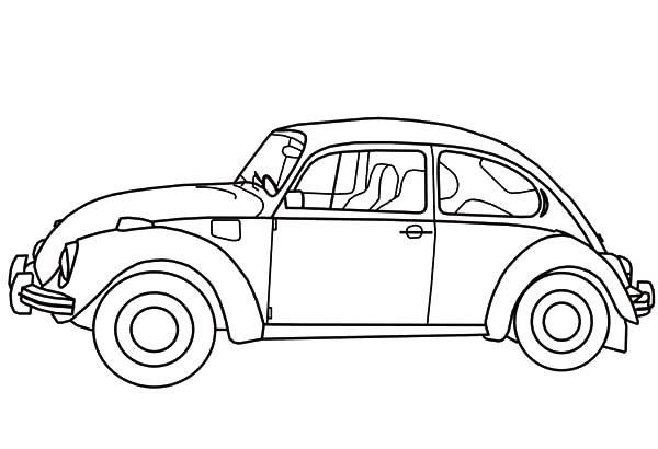 herbie beetle car coloring pages