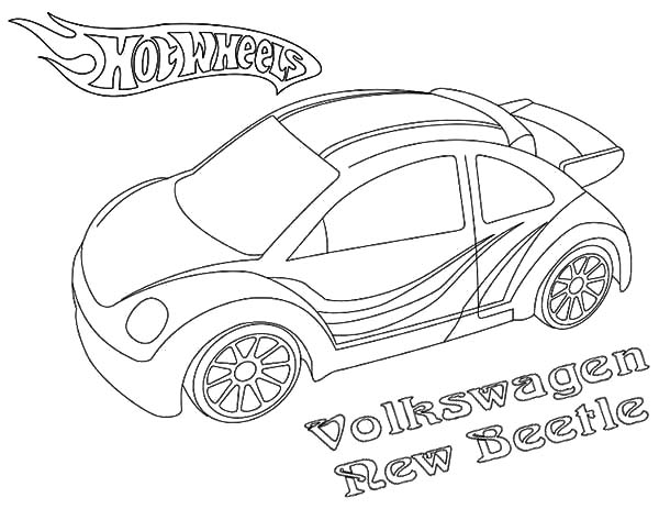 hot wheels volkswagen new beetle car coloring pages : best