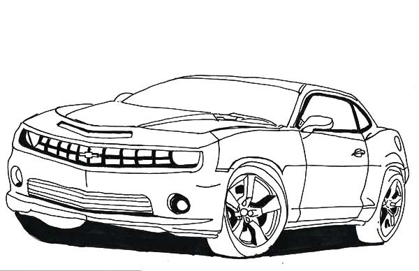 Bumble Bee Camaro Cars Coloring Pages : Best Place to Color | 388x600