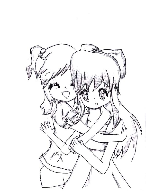 Hug My Best Friends Tight Coloring Pages : Best Place to Color