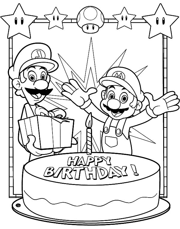 Happy Birthday Color Coloring Page : Best Place to Color