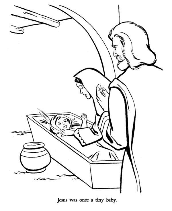 Mary And Joseph And Baby Jesus Bible Christmas Story Coloring Pages Best Place To Color