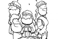 Christmas - The Three Wise Men follow the Star Comet   155x230