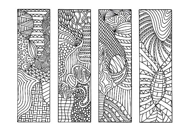 Tribal Drawing Bookmarks Coloring Pages Best Place To Color