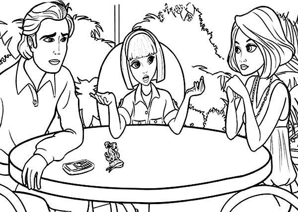 Vanessa Talking To Her Parents In Barbie Thumbelina Coloring Pages Best Place To Color