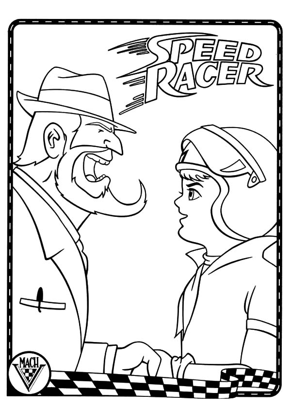 Inspector Yelling At Speed Racer Coloring Pages : Best ...