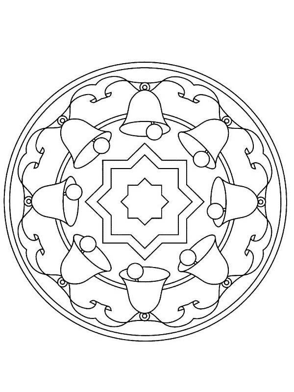 Mandala Christmas Bell Coloring Pages Best Place To Color