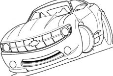 Racing Chevy Camaro Cars Coloring Pages Best Place To Color