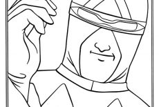Captain Terror Ultimate Weapon In Speed Racer Coloring