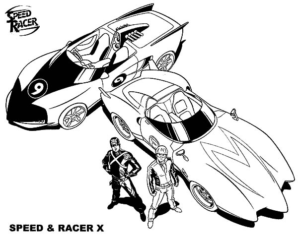 coloring pages speed racer - photo#23