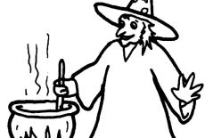Witch And Evil Cat Coloring Pages : Best Place to Color