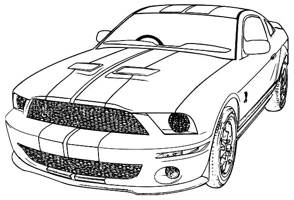 Drawing Mustang Car Coloring Pages | Best Place to Color