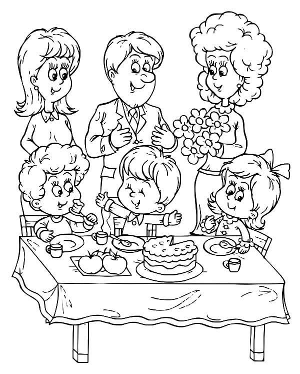 Communion Eucharist Celebration Coloring Page | Printable coloring ... | 747x600