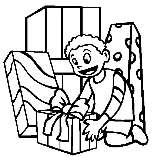 Birthday boy got a lof of presents coloring pages best for Birthday boy coloring pages