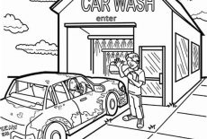 coloring pages carwash - photo#30