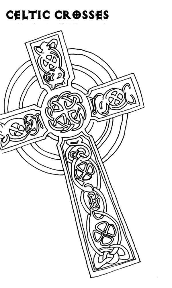 free coloring pages celtic cross - photo#25