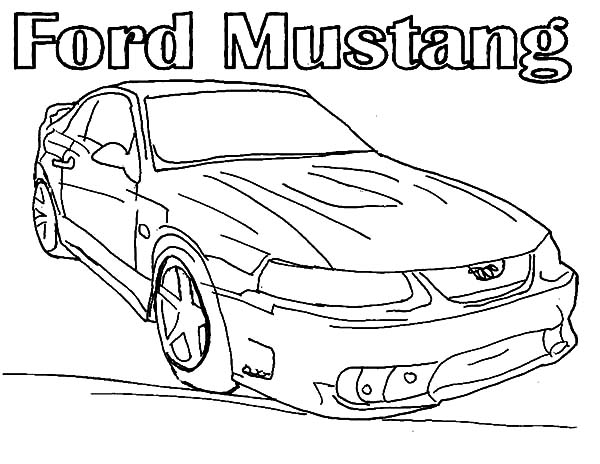mustang car picture coloring pages