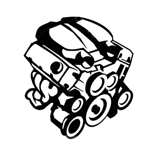 - Car Parts Engine Coloring Pages : Best Place To Color