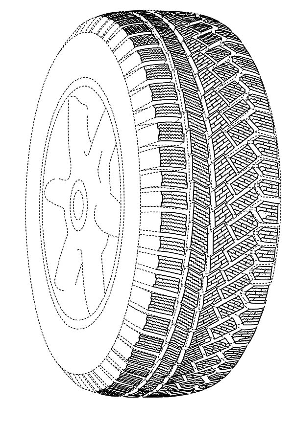 Small and Big Car Tire Coloring