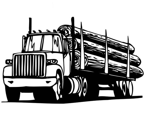 Car Transporter Logging Truck Coloring Pages : Best Place ...