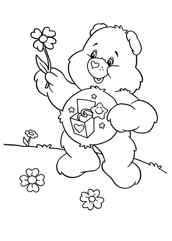 Care Bears Melting Ice Cream Coloring Pages Best Place