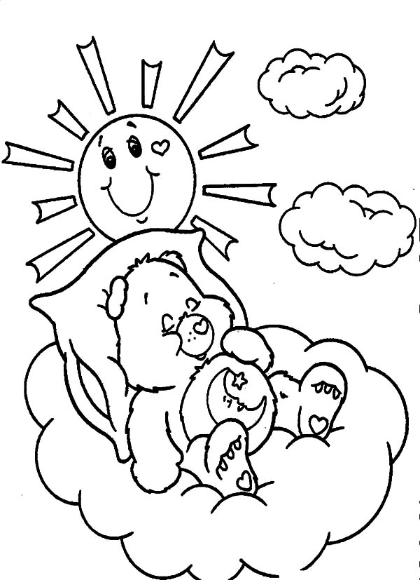 Carebears Coloring Pages free For Kids | 827x600