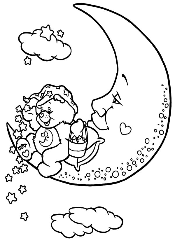 Lets Sleep Say Bedtime Bear In Care Bear Coloring Page : Coloring Sun | 840x600