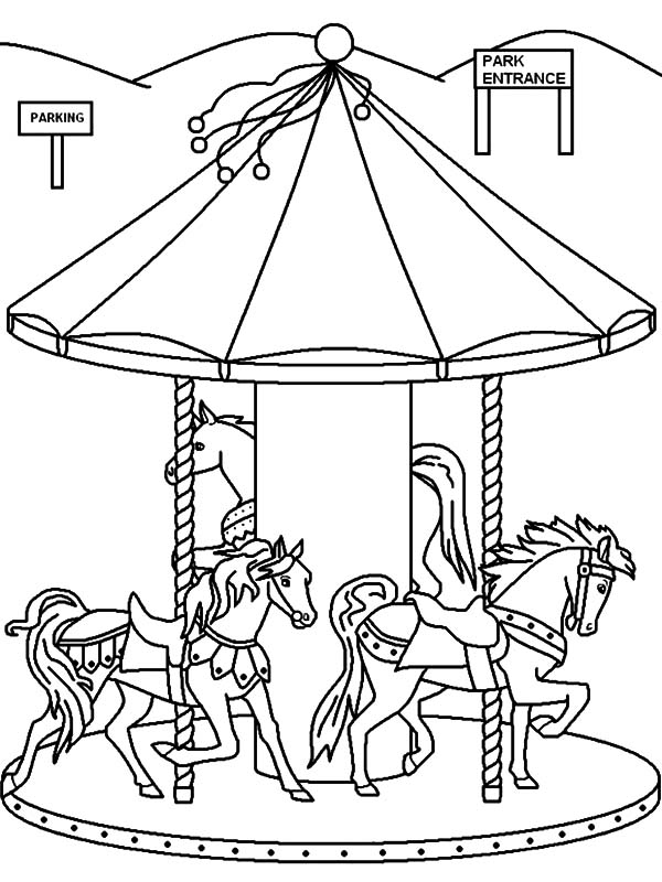 Tent Coloring Page Circus Pages Printable Carnival – birthday ... | 800x600