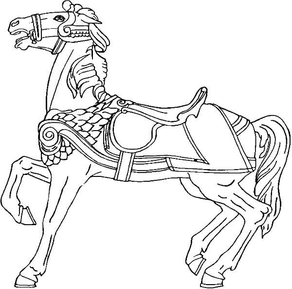 Carousel horse rearing coloring pages best place to color for Carousel horse coloring page