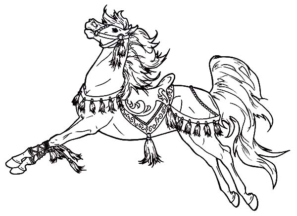 Charming Carousel Horse Coloring Pages