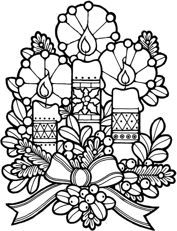 Church Decoration Candle Coloring Pages Best Place To Color
