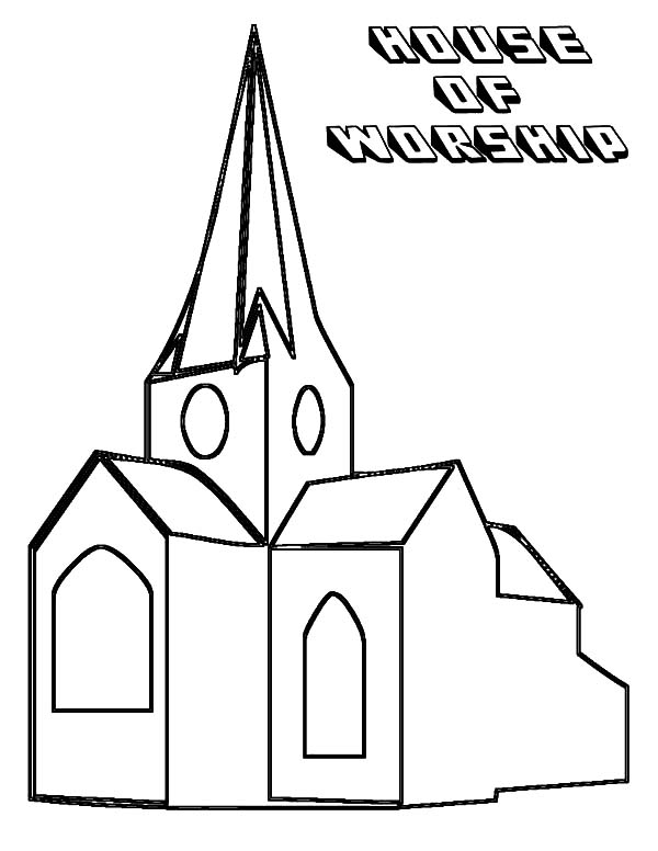 church bells coloring pages | An Old Church Coloring Pages : Best Place to Color