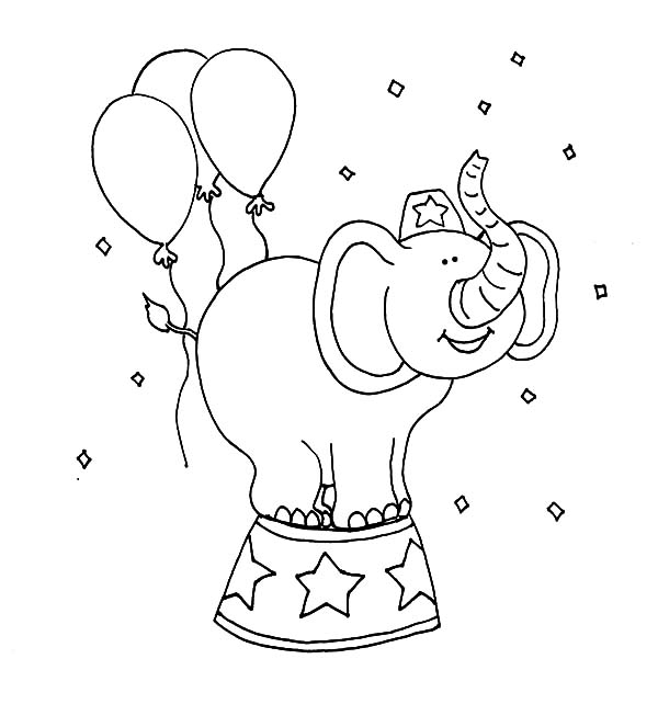 circus balloons coloring pages - photo#9