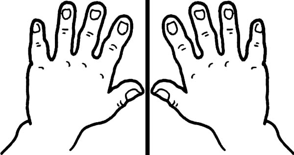 Clapping Hands Coloring Pages