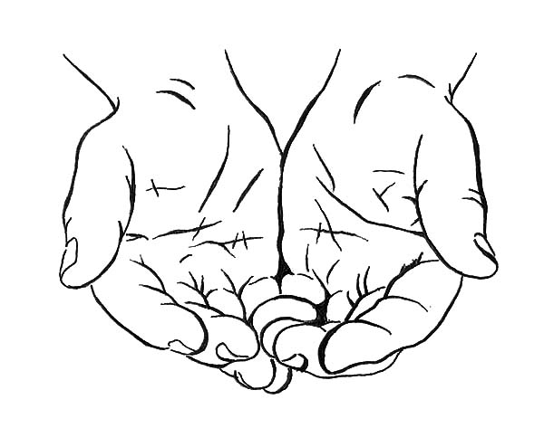 Drawing Cupped Hands Coloring Pages : Best Place To Color