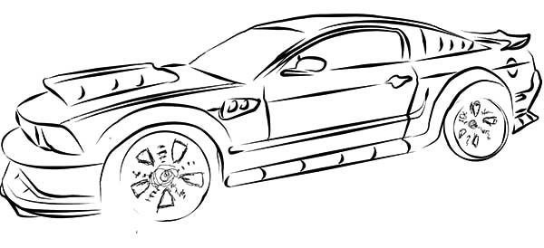 drawing mustang car coloring pages best place to color. Black Bedroom Furniture Sets. Home Design Ideas