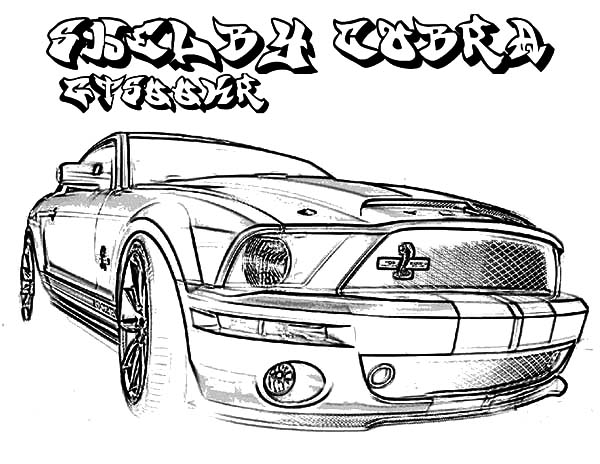 coupe car mustang coloring pages