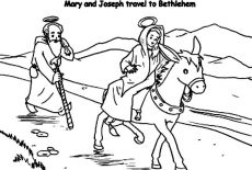 No Room At The Inn For Mary And Joseph And The Donkey Coloring ... | 155x230