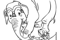 Free Printable Coloring Page Of Elephant - Coloring Home | 155x230