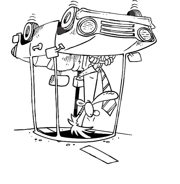 Man Had Accident When Driving Car Coloring Pages Best