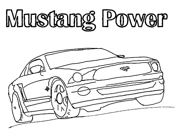 old ford mustangs coloring pages - photo#16