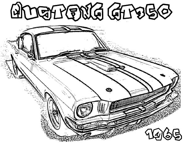 ford mustang gt fastback 1968 coloring pages  ford mustang