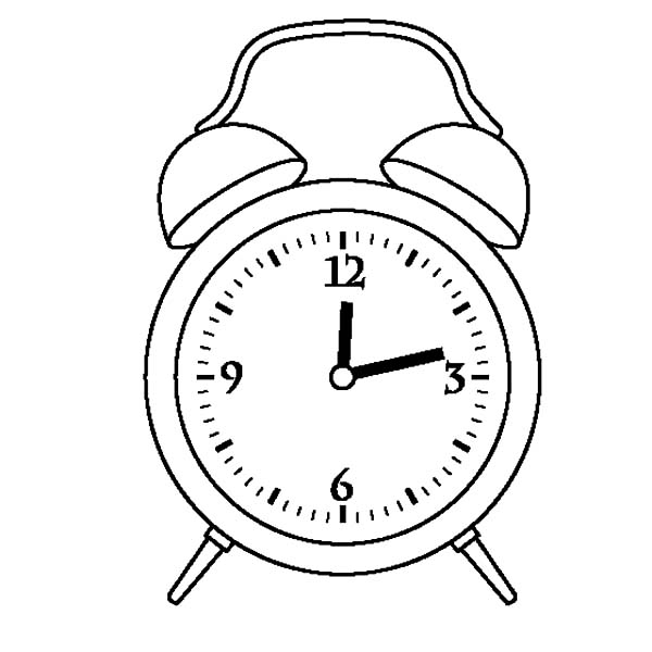 Preschooler Clock Coloring Pages on Arbor Day Coloring Pages