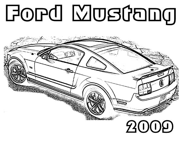Classic Ford Mustang Car Coloring Pages | Best Place to Color