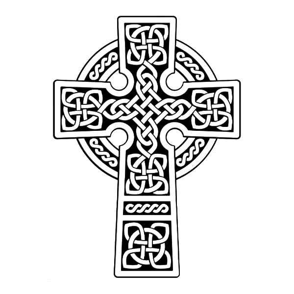 free coloring pages celtic cross - photo#21