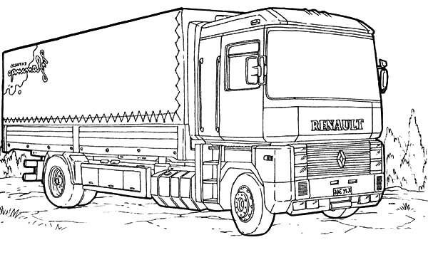 car transporter big cement truck coloring pages