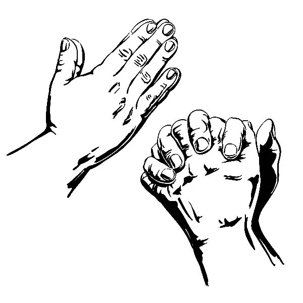 Praying Hands Coloring Page : Best Place to Color